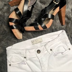 Free people white denim jeans